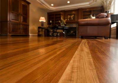 Beautiful New Hardwood floors home interior copy space